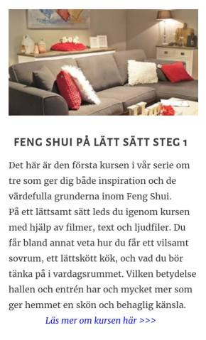 Feng shui pa latt satt steg 1