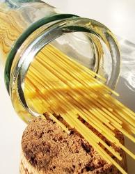 Pasta spagetti i glasburk